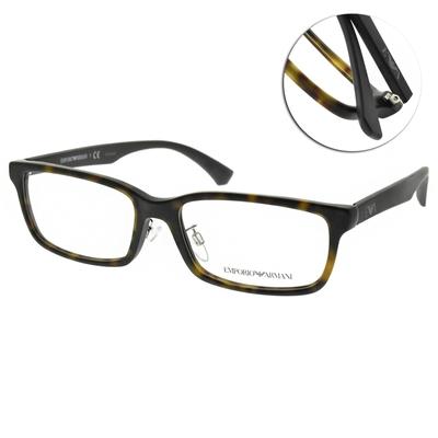 EMPORIO ARMANI光學眼鏡 方框款/霧琥珀-霧黑 #EA3167D 5089