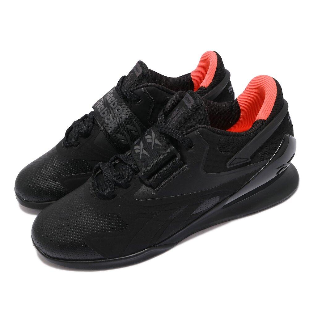 REEBOK 訓練鞋 Legacy Lifter II 運動 男鞋 健身房 重量訓練 穩定 支撐 球鞋 黑 橘 [FY3538]