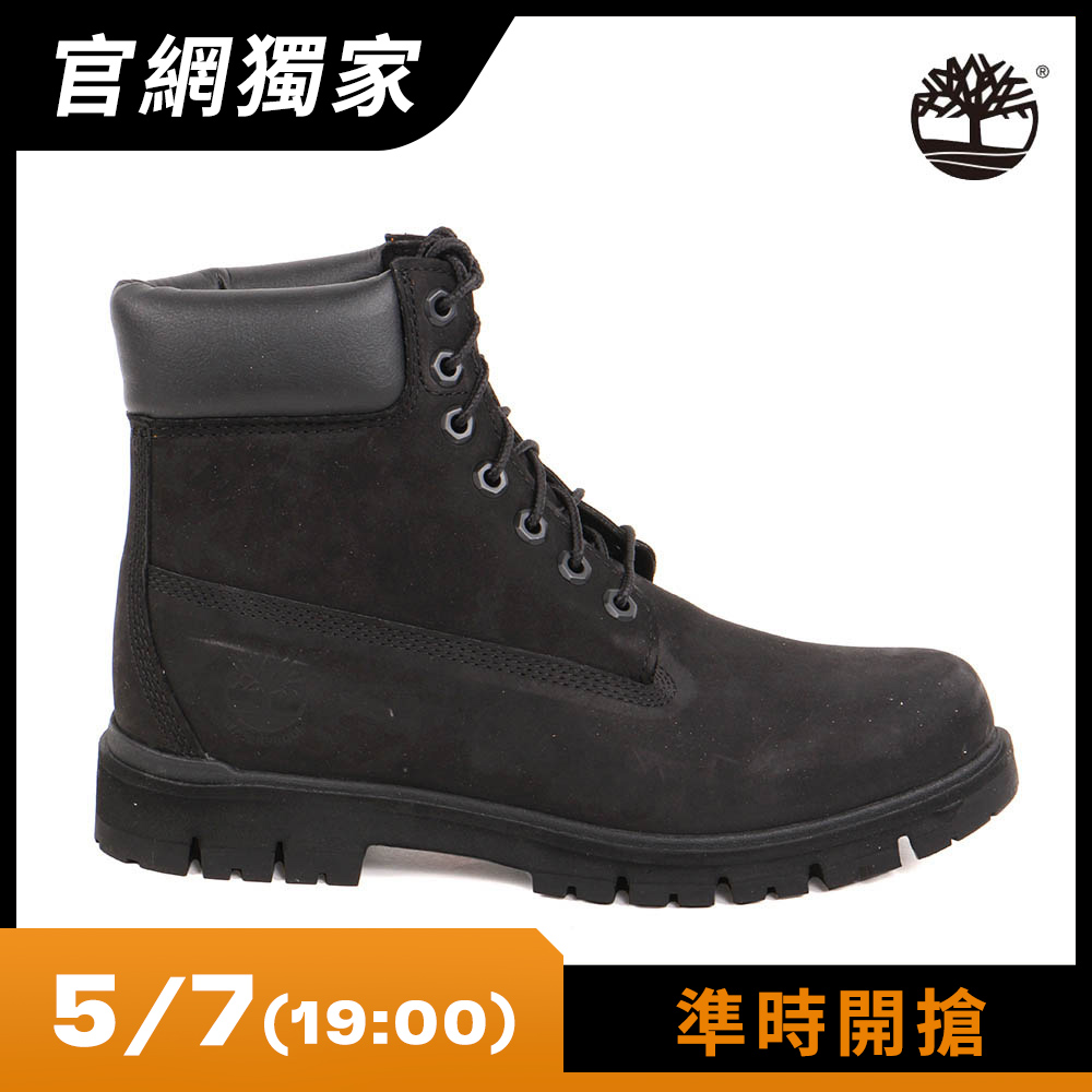 Timberland 男款黑色絨面Radford 6吋防水靴 | A1JI2001