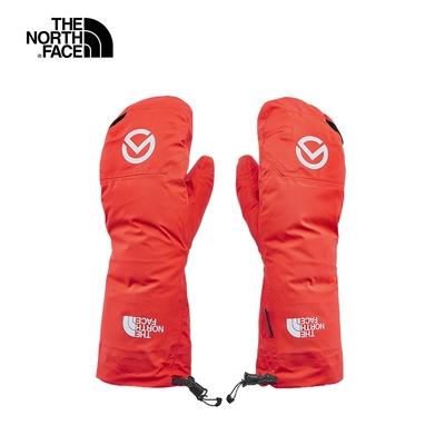 The North Face北面男女款紅色休閒舒適戶外連指手套 3SI9VS2