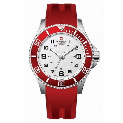 【 阿爾卑斯軍錶S.A.M】紅色警戒系列潛將款 白面紅圈橡膠帶 43mm (7036.1836SAM)