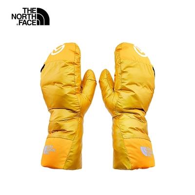The North Face北面男女款黃色休閒舒適戶外連指手套 3SIC739