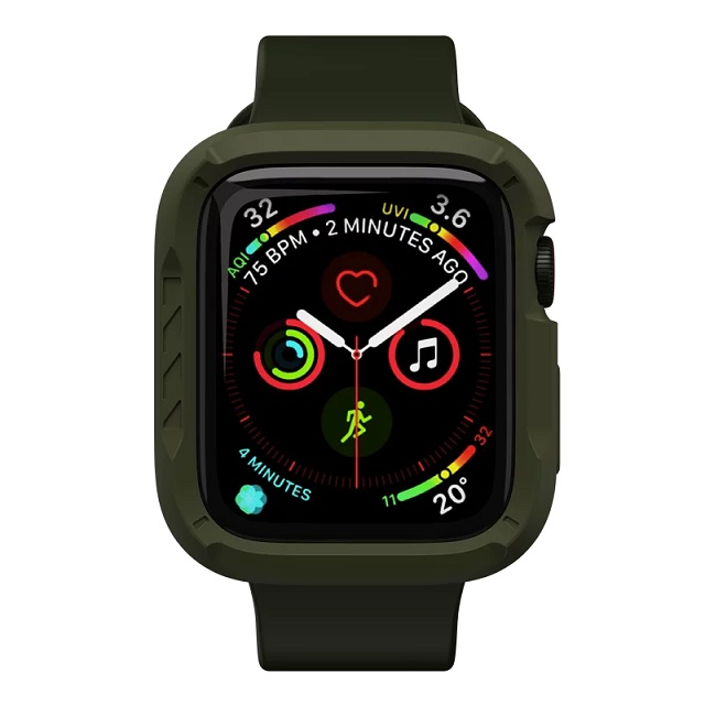 JTLEGEND Apple Watch Series 6/5/4/SE (44mm) ShockRim 防摔保護殼-軍綠
