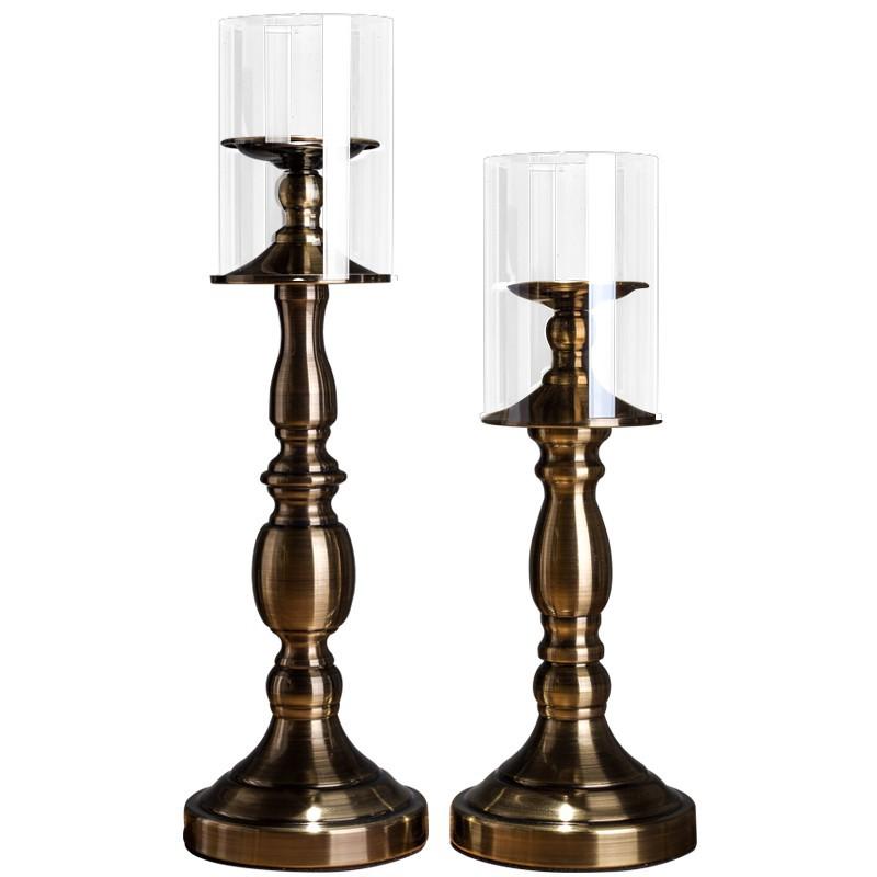 歐式燭臺擺件奢華蠟燭臺婚慶婚禮道具新款浪漫燭光晚餐餐桌簡約/可開超取