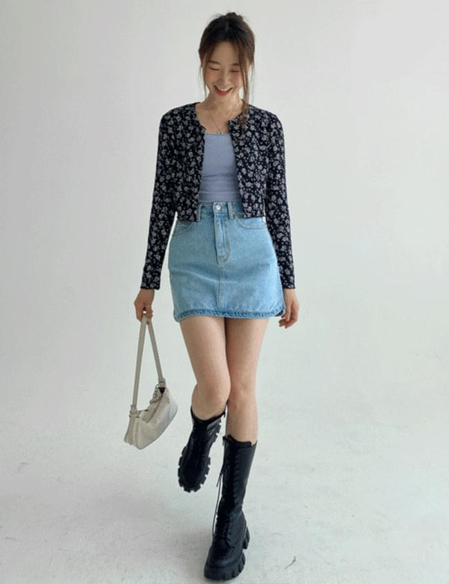 韓國空運 - Fog flower cardigan T-shirt 針織外套