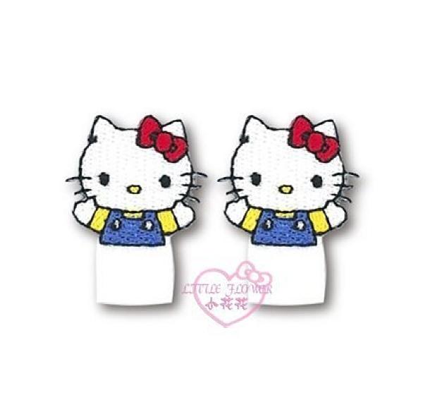 小花花日本精品HelloKitty可愛大臉半身造型燙布貼衣物包包皆宜兩入組99126100