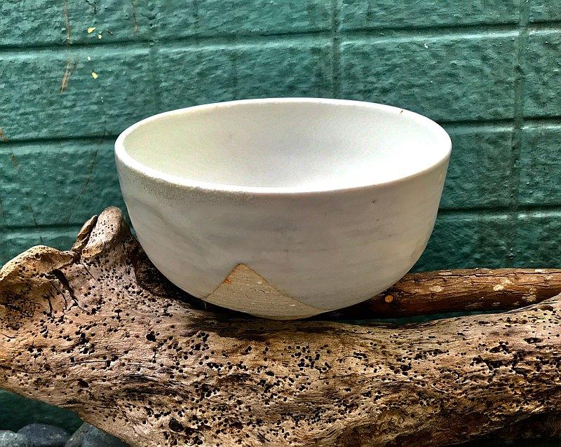 乳白玉陶碗 志野釉還原燒法 餐碗 餐具 湯碗 手工陶碗