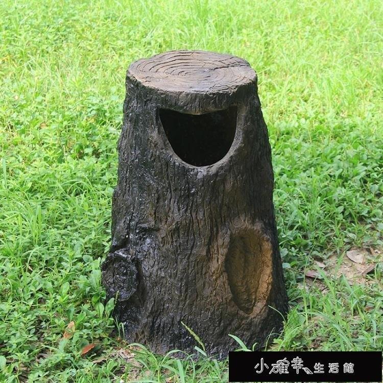 垃圾桶 明宇公園景區垃圾桶 戶外仿樹樁垃圾筒 創意別墅花園垃圾箱 園林 摩可美家