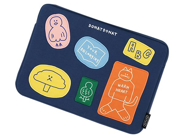 韓國 ROMANE~DONATDONAT 15吋筆電收納包(橫式)1入 Donat Friends【DS001385】Brunch Brother ※限宅配