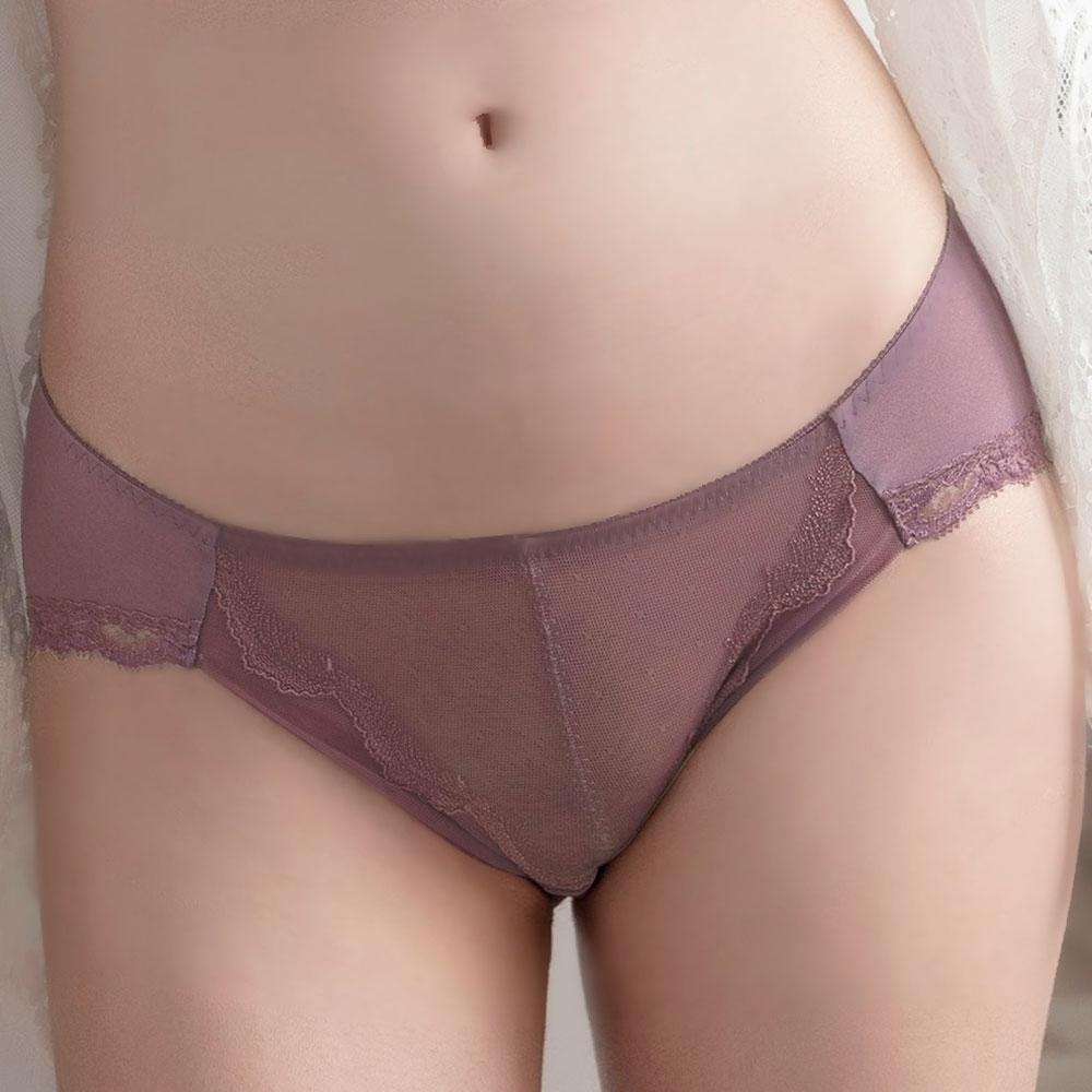 華歌爾-輕俏迷~浪漫之約 M-LL中低腰三角褲(焦糖紫) 穿著無痕-NS2361UH