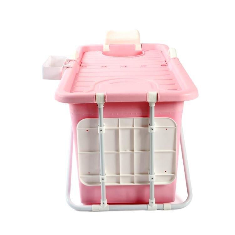 可摺疊成人泡澡桶塑料洗澡桶家用沐浴盆大號全身大人浴缸女加厚