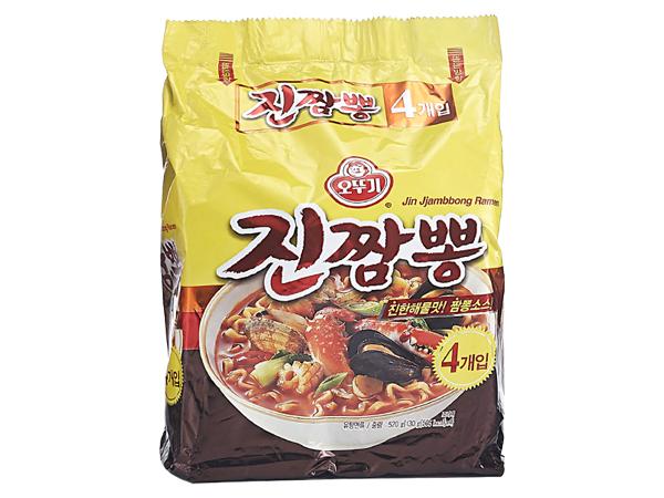 韓國不倒翁~金螃蟹海鮮風味拉麵130g*4包(整袋裝)【D522838】泡麵/進口/ 團購