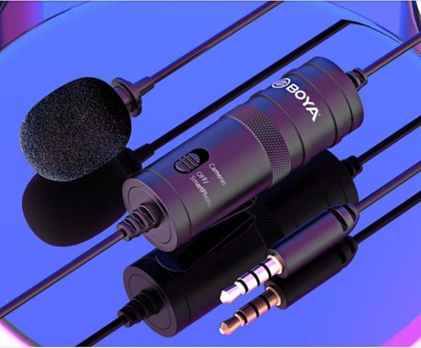 Boya博雅BY-M1領夾式麥克風吃播聲控非無線夾領專業話筒收音麥手機直播 【端午節特惠】