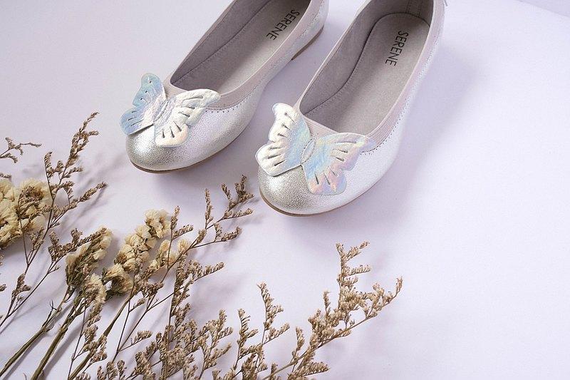 台灣手工鞋 女童娃娃鞋 童鞋兒童平底鞋 跳舞鞋 銀色Kids Sandals