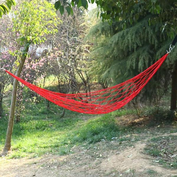 吊床 吊床戶外成人尼龍繩網狀單雙人加粗室內家用睡覺陽臺棉繩秋千吊椅