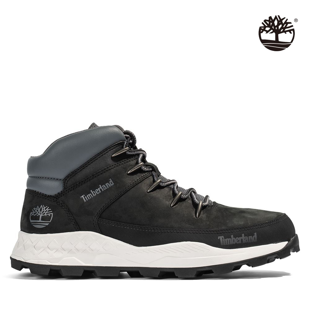 Timberland 男款黑色磨砂革布魯克林運動鞋|A2JER015