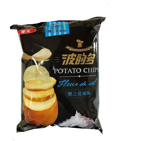 點數15%★食品飲料滿千–波的多洋芋片鹽之花風味150g 【康是美】