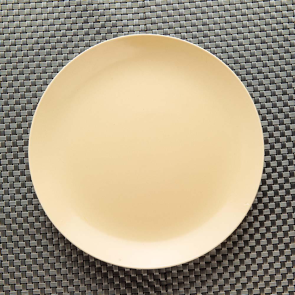 雨點白境瓷泥餐盤26cm