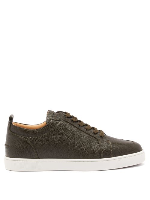 Christian Louboutin - Rantulow Leather Trainers - Mens - Black White