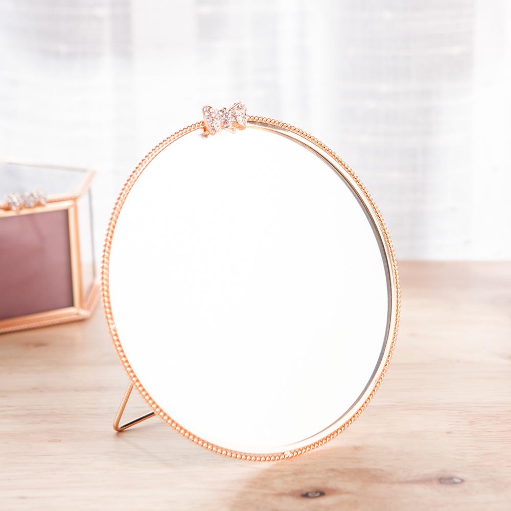 Brilliant圓形銅雕邊框桌鏡