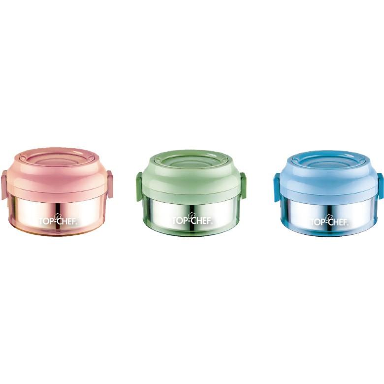 304不鏽鋼繽紛可分離式防漏餐鮮盒單層(藍)[大買家]