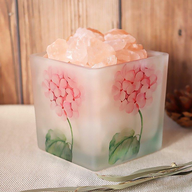 花物語-粉繡球  造型鹽燈