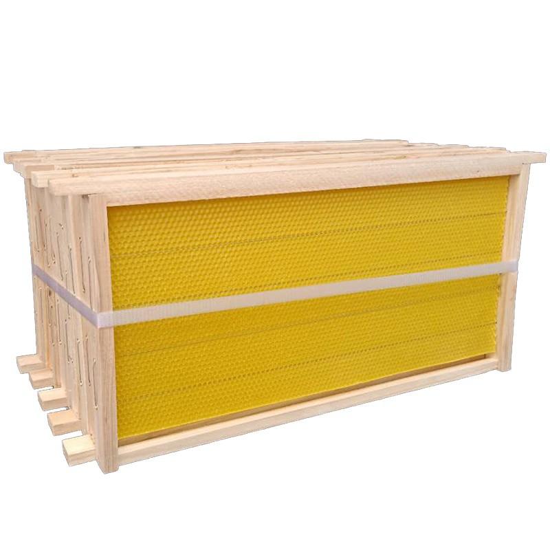 帶巢礎框成品巢框蜂巢中蜂意蜂杉木巢基蜜蜂巢框養蜂工具蜂箱/可開超取