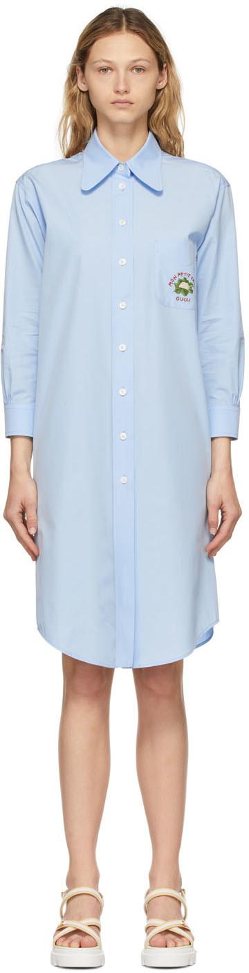 Gucci 蓝色 Cauliflower 衬衫连衣裙