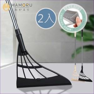 《MAMORU》超值2入_乾濕兩用矽膠魔術刮刀拖把(刮拖/掃把/拖把)黑色*2
