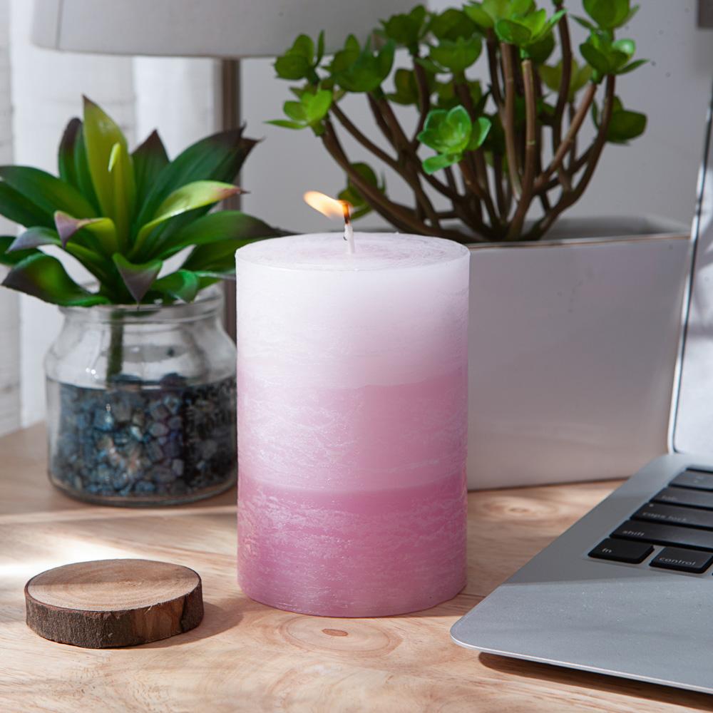 蔥鬱花園漸層4吋蠟燭