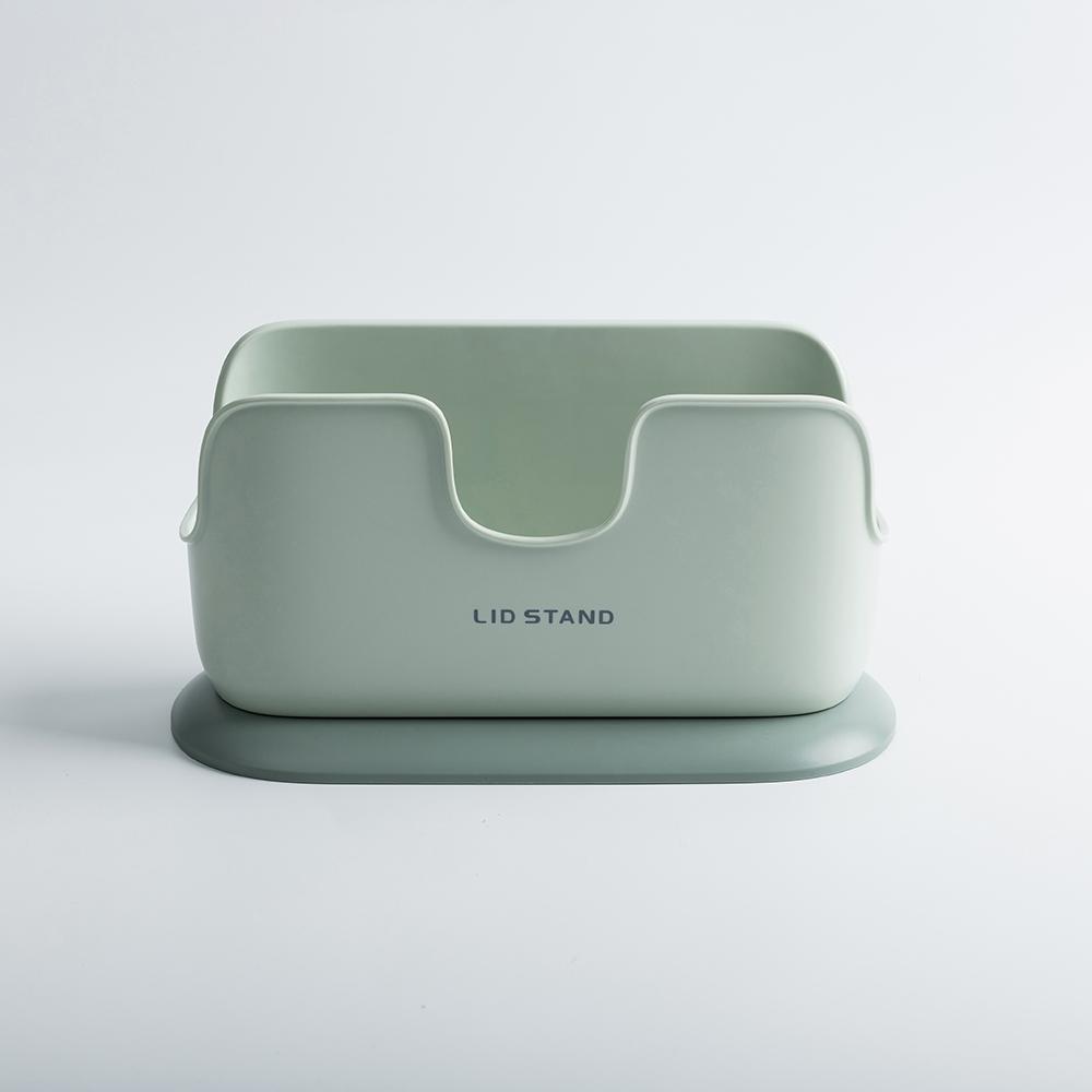 *方圓家用立式鍋蓋架-綠