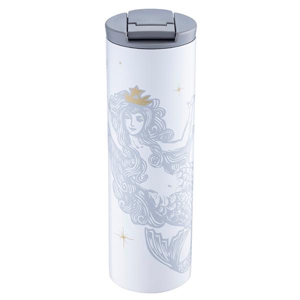星巴克女神曼妙不鏽鋼杯-銀灰