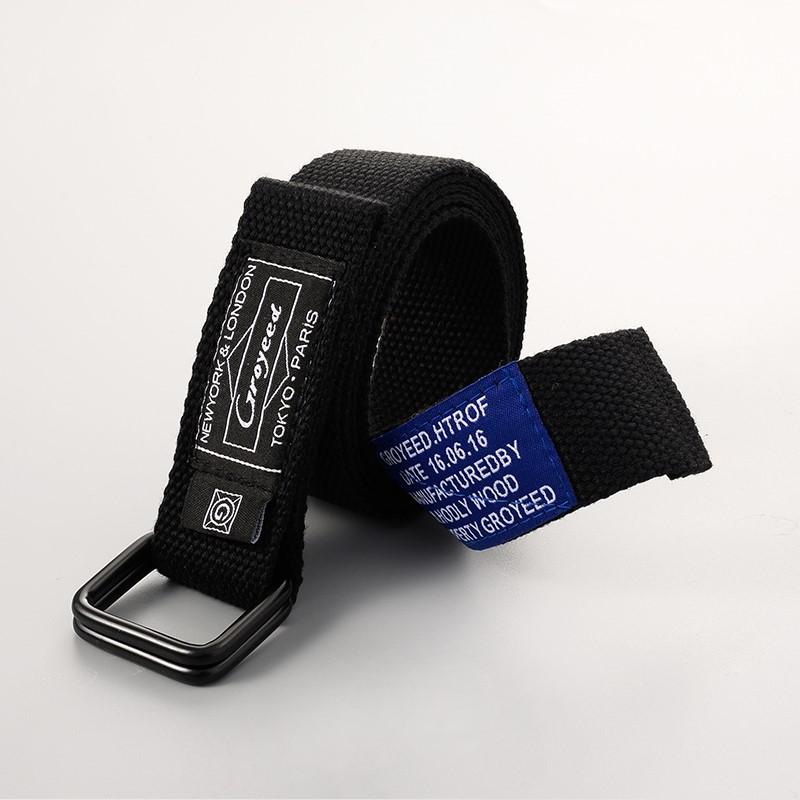 為穿搭增添一份亮點 / 工裝帆布腰帶 / 雙簧扣設計 / 男女可用 / 130CM / 地區聯名布標風格【QTJBY99】