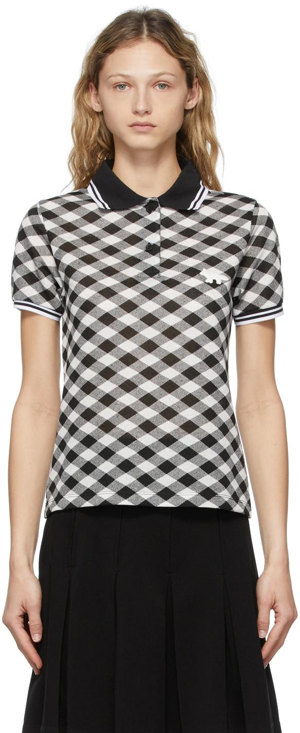Maison Kitsuné 黑色 & 白色 Fitted Polo 衫