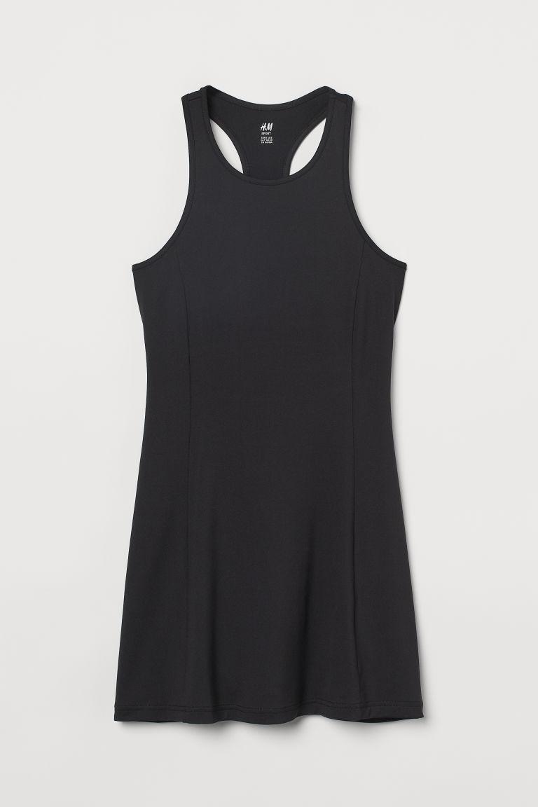 H & M - 快乾網球洋裝 - 黑色
