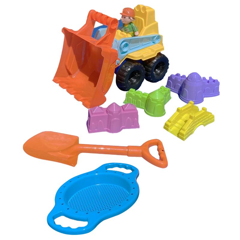 【沙灘玩具】SOAK沙灘推土車7件組-顏色隨機出貨