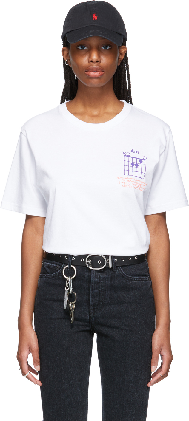 SSENSE WORKS SSENSE 独家发售白色 Dev Hynes 系列 Talking Chords T 恤