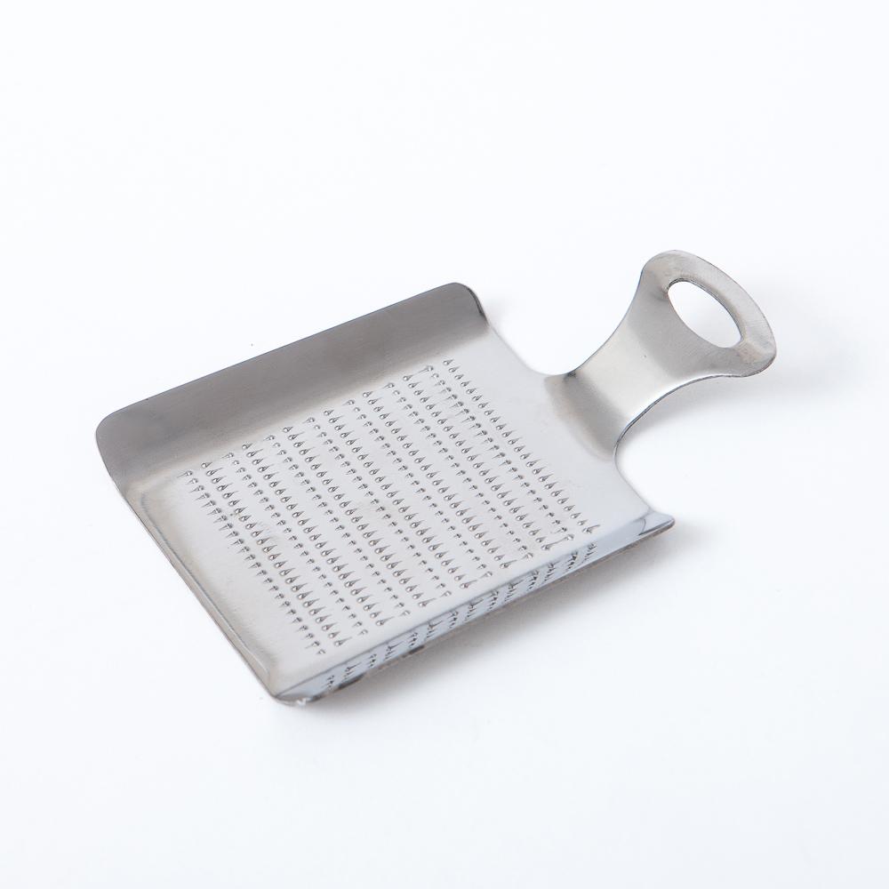 料理幫手不鏽鋼430磨泥匙(方)