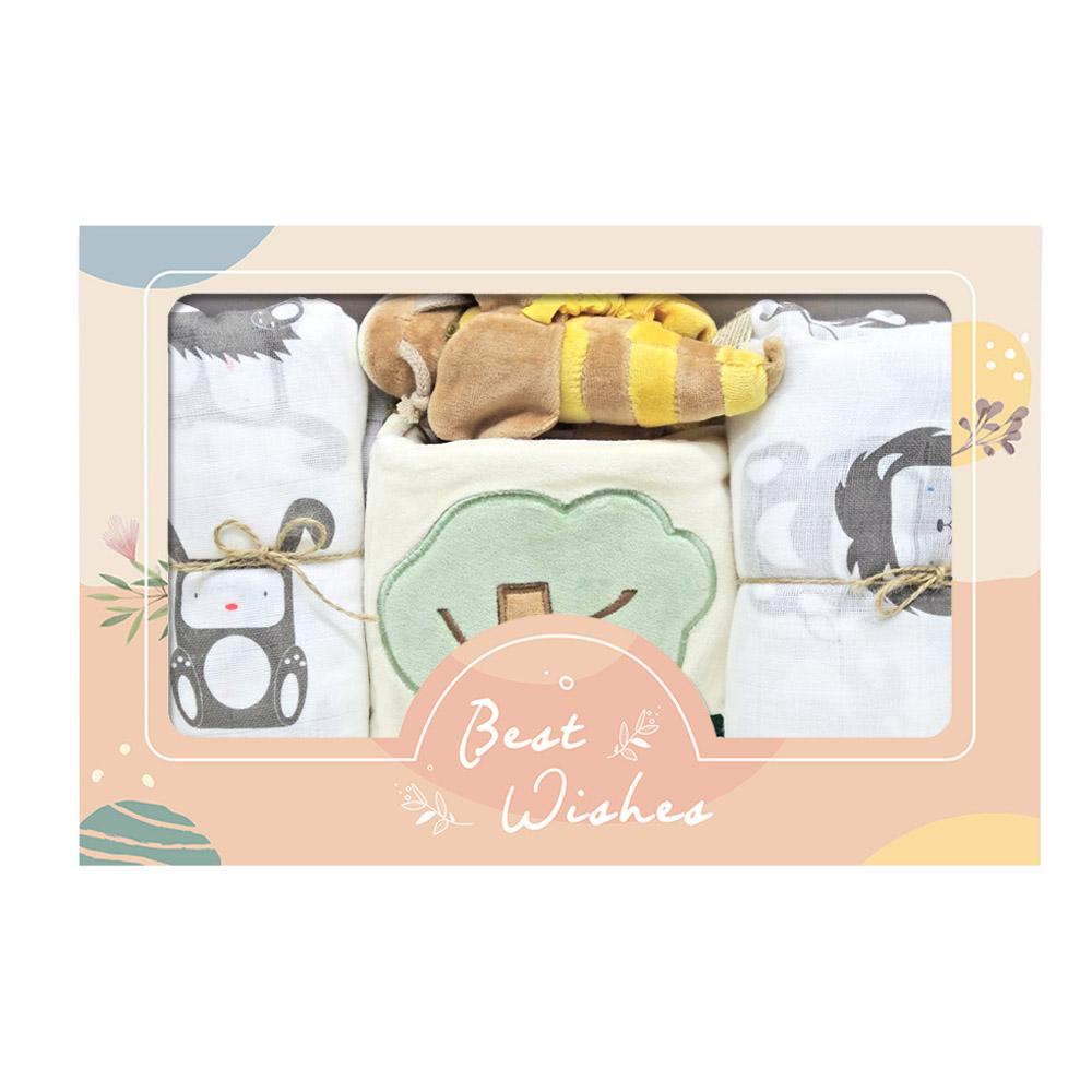 彌月嬰兒禮盒 超值包巾好睡眠【CH000A1007】