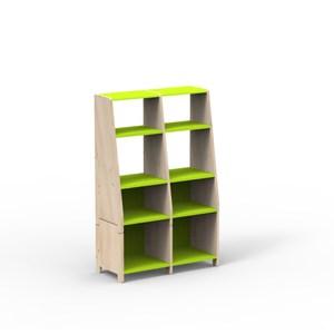 比利時 Mathy by Bols 蒙特利梭兒童四層書架兩入組-蘋果綠