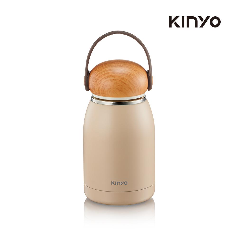 kinyo 不鏽鋼隨行保溫杯320ML-白KIM-31W