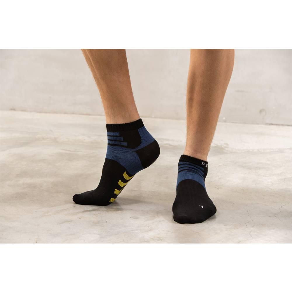 貝柔輕量足弓護足短襪(男)-深藍(1雙)