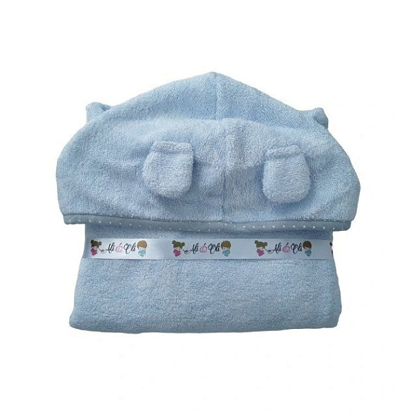 波蘭 LULLALOVE 竹纖維浴巾-藍色斗篷