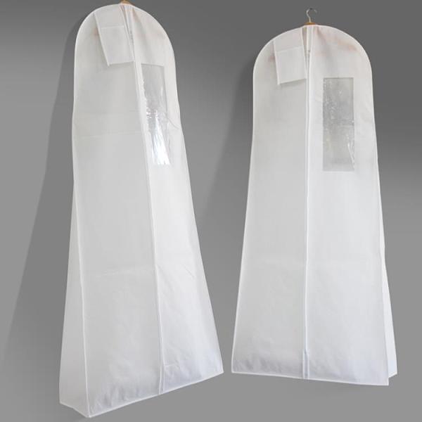 新款婚紗罩加大長款禮服防塵罩漢服套防塵袋大衣罩透明透氣大拖尾 璐璐生活館