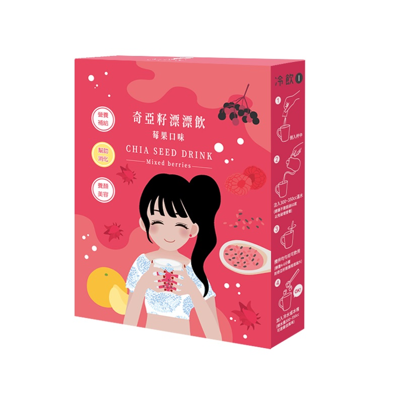 午茶夫人 奇亞籽漂漂飲(莓果口味)-2入
