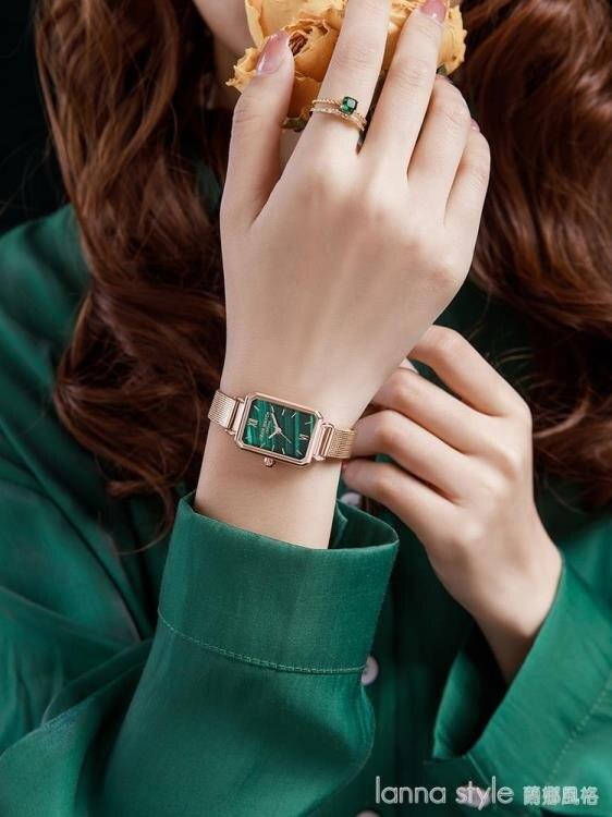 小綠錶簡約氣質2021年新款手錶女ins風學生 全館新品85折