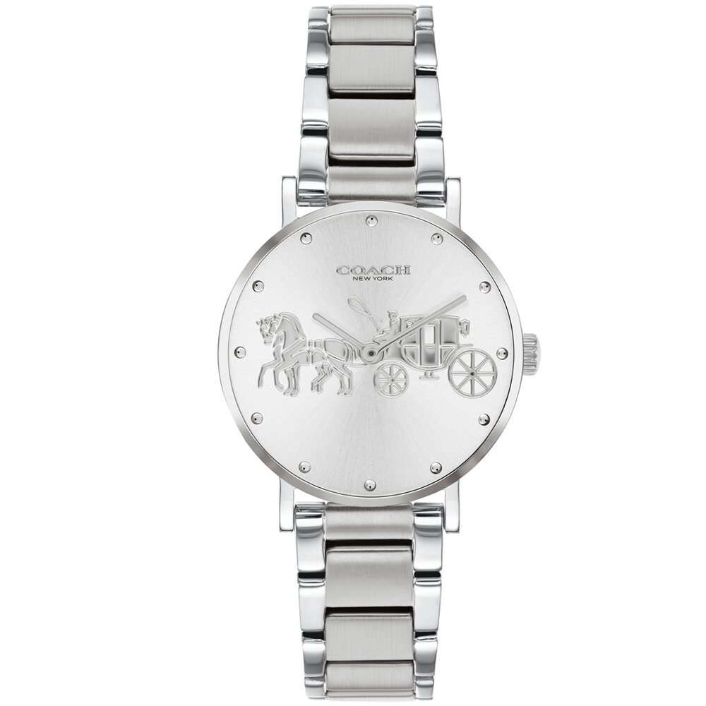 COACH 經典馬車氣質腕錶/銀/28mm/CO14503795