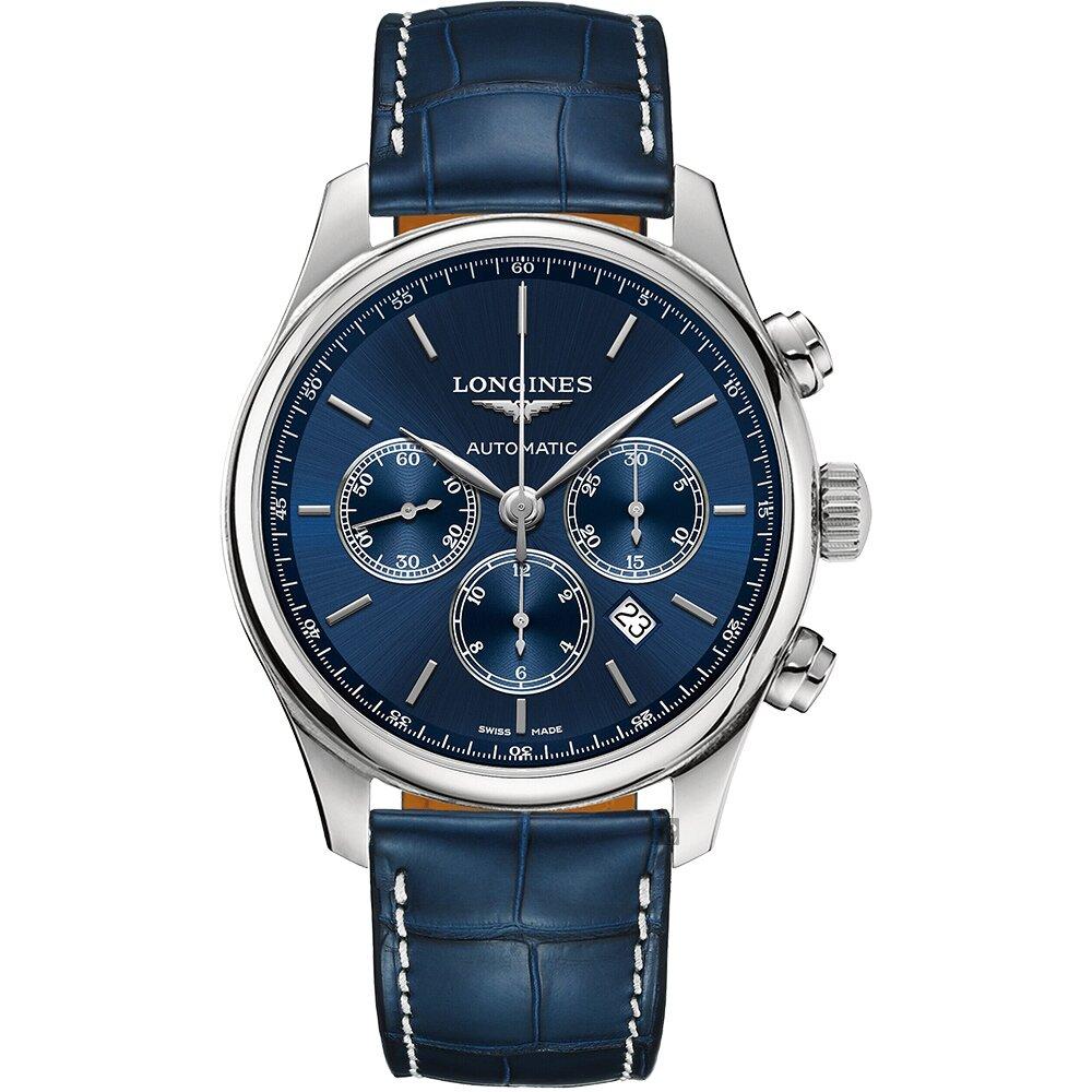 LONGINES浪琴 Master 巨擘計時機械錶-藍/44mm (L28594920)