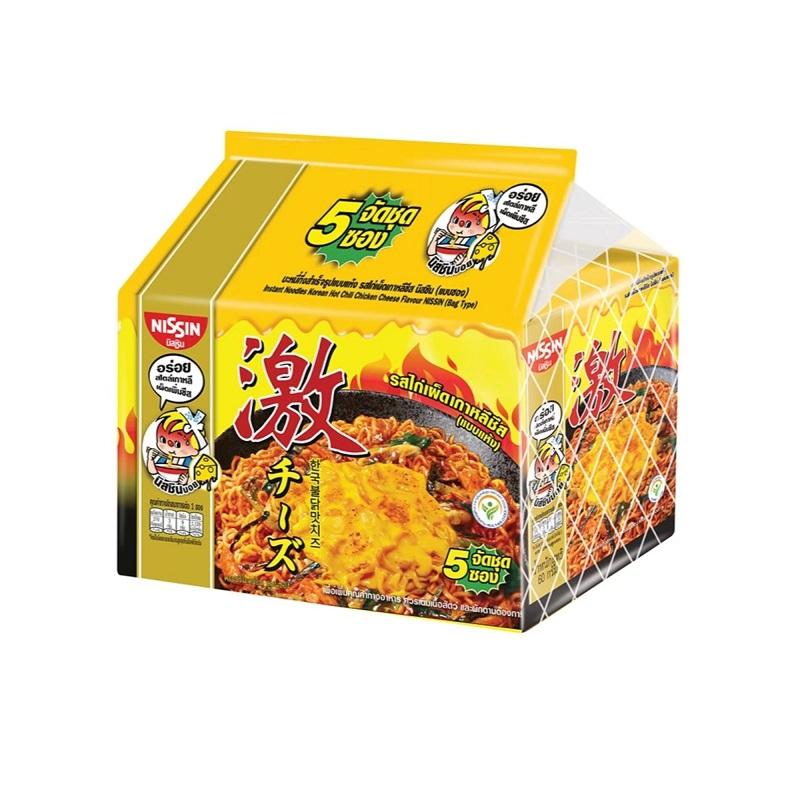 日清韓式激辛辣雞起司風味麵60gx5