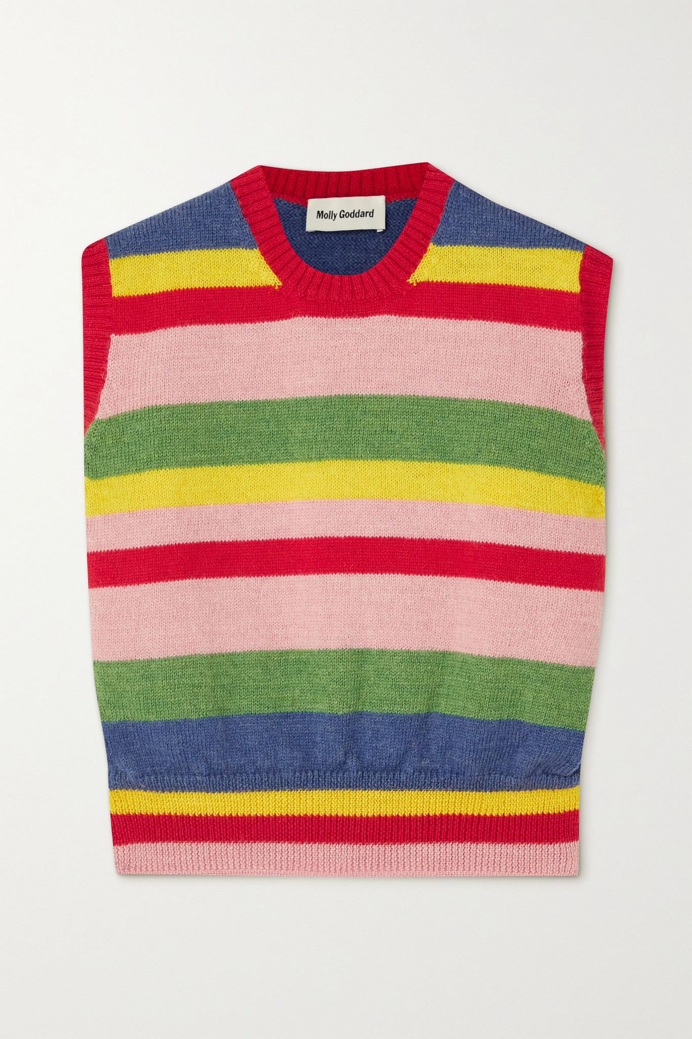 MOLLY GODDARD - Blair Striped Wool Vest - Red - small